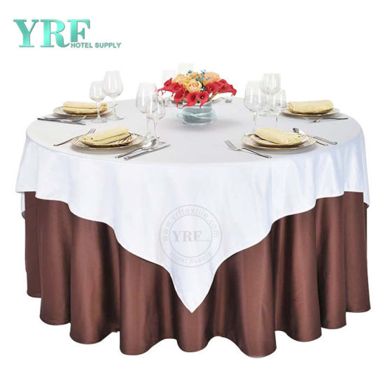 Polyester Circular Plain Table Cloth No Joins 3 Sizes