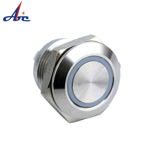 12mm Momentary 220 Volt LED IP67 Waterproof Push Button Switch