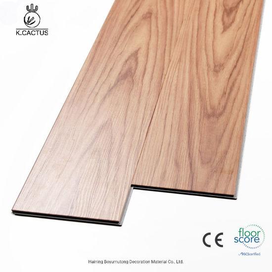 Commerical 4mm 5mm Waterproof Click Lock Luxury Vinyl Plank Flooring For Indoor Usage