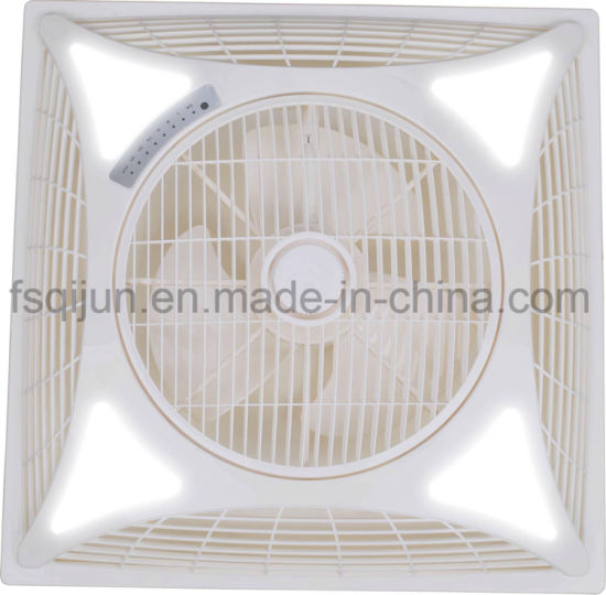 2X2 600X600mm 14 Inch Shami Metro False Ceiling Fan with LED Light Remote Control to India Pakistan Iraq