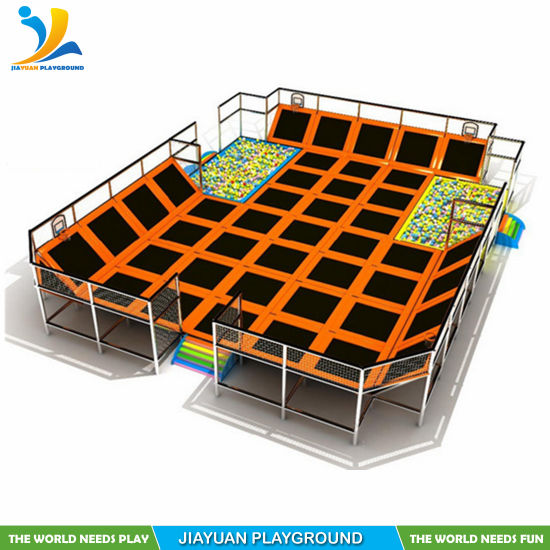 Trampoline Dodgeball with Indoor Trampoline Park with Foam Pit