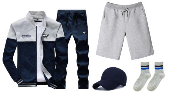 Wholesale Polyester Men's Women Fashion Jogging Clothing Clothes Wear Apparel Garment Sportswear Tracksuit Uniform