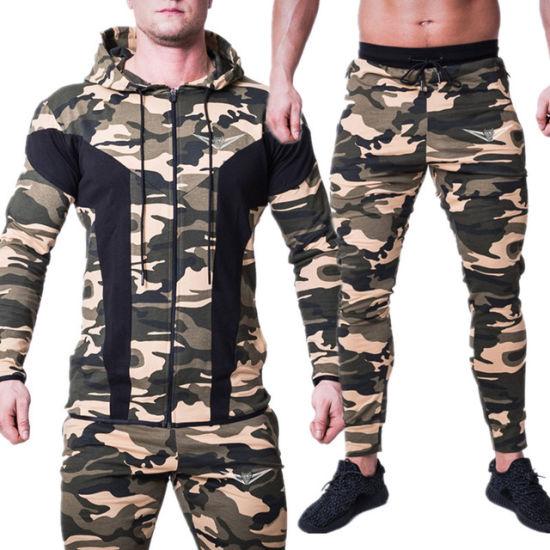 Guangzhou Wholesale Jogging Suits Design Own Logo Men Sport Sets Mens Camouflagetracksuits