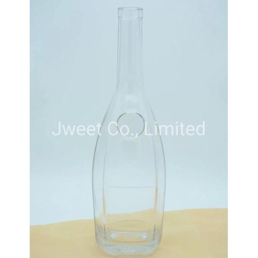 OEM Highly White Clear 500ml Sake Alcoholic Glass Bottle
