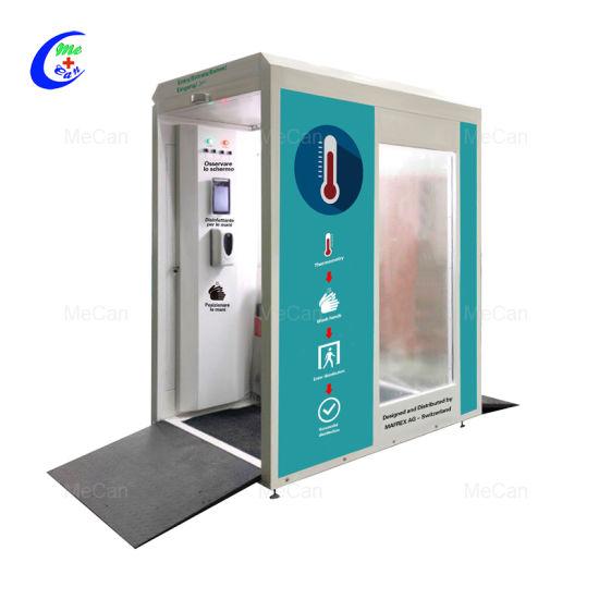 in Stock Intelligent Body Temperature Measurement Disinfection Channel Disinfection Door