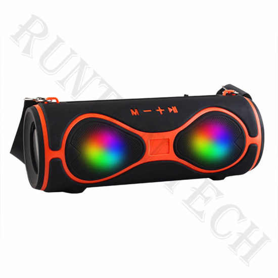 MMS-39 Wholesale Outdoor Portable Colorful LED Wireless Stereo Bluetooth Speaker