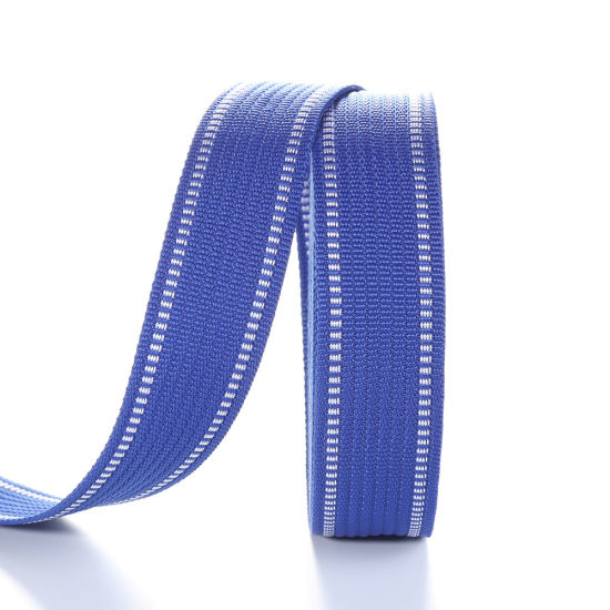 38mm Blue Saddle Stitch Polypropylene Webbing Belting pictures & photos