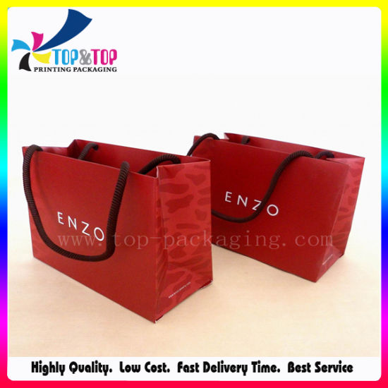 Custom Kraft Printed Paper Carrier Paper Packing Shopping Gift Bag for Cosmetic Jewelry Cloth Suit-Dress pictures & photos