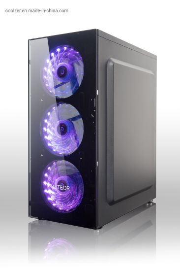 Tempered Glass Front Panel Tower RGB Gaming PC Case L12