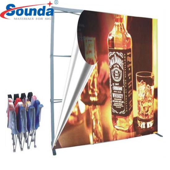 Straight Backdrop Tension Fabric Pop up Display for Trade Show
