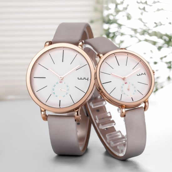 Business Multi Function Vintage Leather Couple Lover Wrist Watch Wy-088
