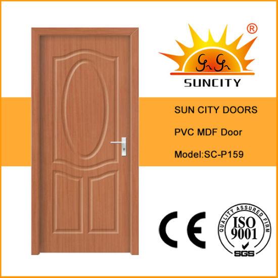Latest Wood Design PVC Film Coated Interior Room Door Panel