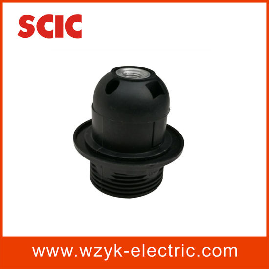 (YK766L) E27 Half Screw Plstic Lampholder with Ring