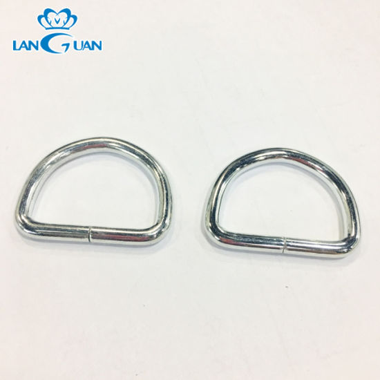 Iron Black Plating Hardware D Ring for Bags