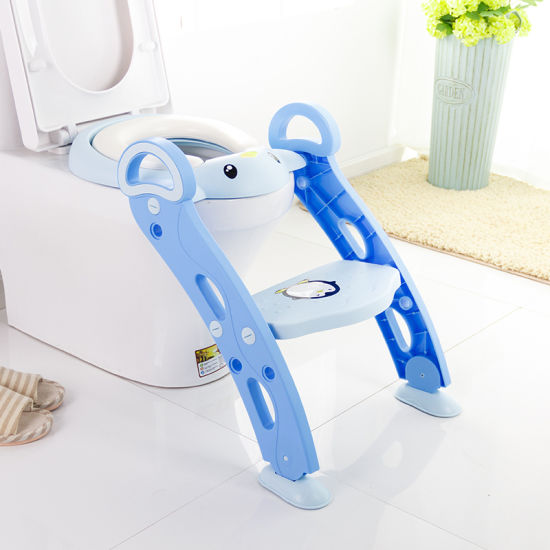 Baby Infant Toddler Kids Toilet Trainer Seat Potty Urinal Training Chair Blue
