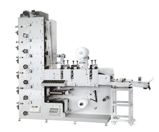 Label (logo) Flexo Printing Machine with Three Die Cutting Stations (HSS-320G/450G) pictures & photos
