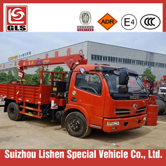 Dongfeng 5ton Truck Installed with 3/4 Ton Crane pictures & photos