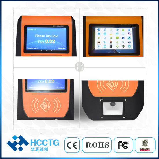 China 5 Inch TFT-LCD Automatic NFC Linux Bus Validator with
