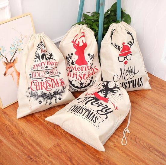 Wholesale Christmas Halloween Drawstring Candy Gift Bag pictures & photos