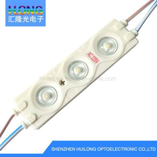 AC220 Current LED Module 220V/110V SMD LED Ce RoHS FCC ABS Material LED Moudles for Signage
