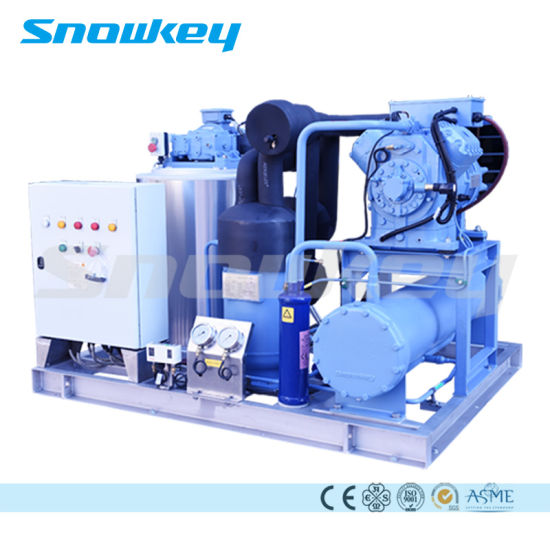 Automatic PLC Controller Water-Cooled Slurry Ice Machine Plant System 3 T/D-37.5 T/D