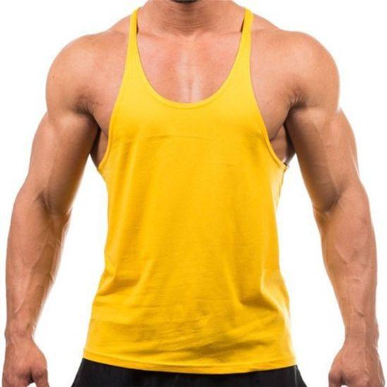 b07218882a125 China Cheap Muscle Wholesale Men Tops Plain Gym Tank Tops - China ...