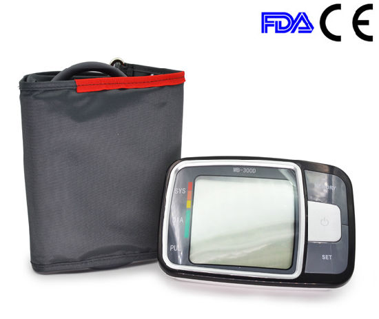 Arm Digital Sphygmomanometer with Big LCD Screen pictures & photos