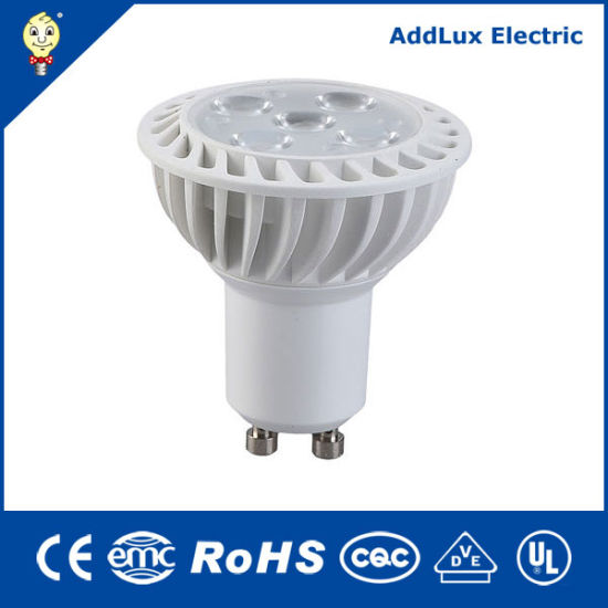 Ce UL Saso Aluminium Plastic 5W SMD GU10 LED Spotlight Bulb Made in China for Home & Business Exterior Lighting From Best distributor Exporter Factory