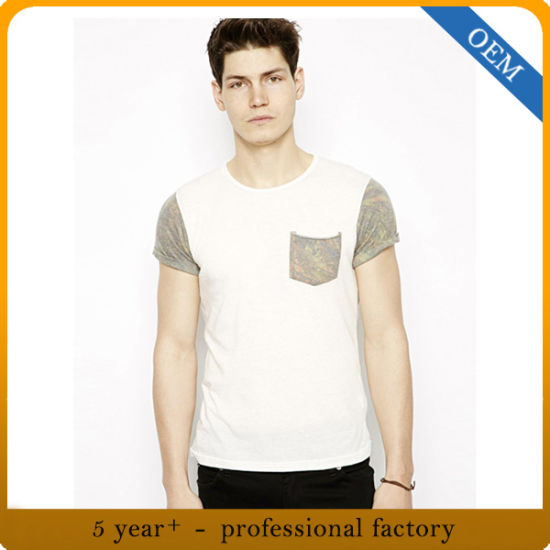 e8138f44d44 Custom Men′s Summer Scoop Neck Cotton T Shirt with Pocket pictures   photos