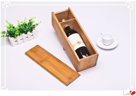 Bamboo Wooden Wine Whiskey Case