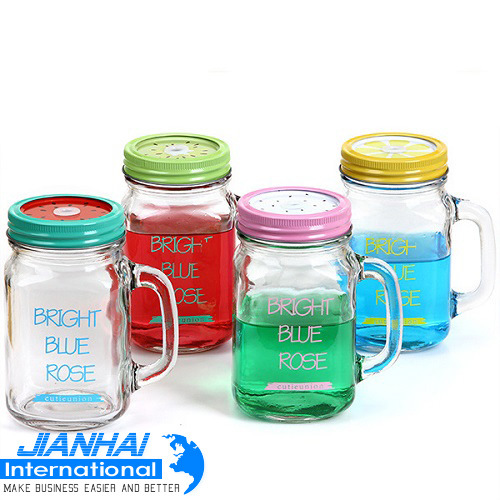 Mason Jar/ Glass Cup/ Mug/ Jar with Handle pictures & photos