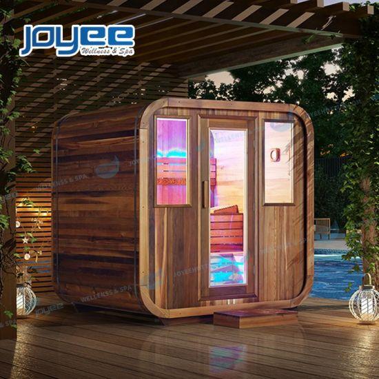 Outdoor Resort Villa Wooden Traditional Sauna Wood Room Steam Shower Dry Sauna Cabin Room for Wholesale Price