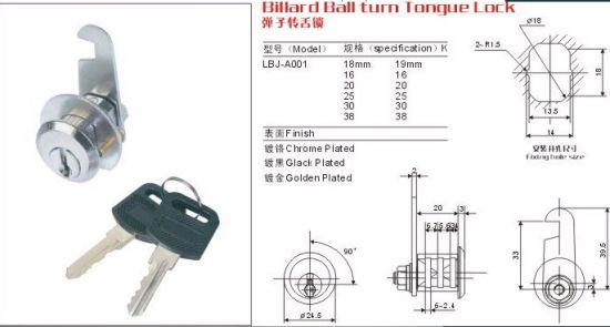 Zinc Cam Lock, Steel Box Lock (ABJ-16)