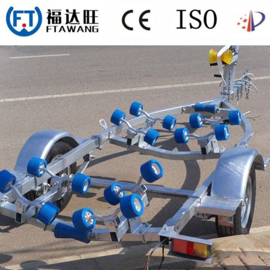 High Quality Single Axle Motor Boat Trailer with Roller