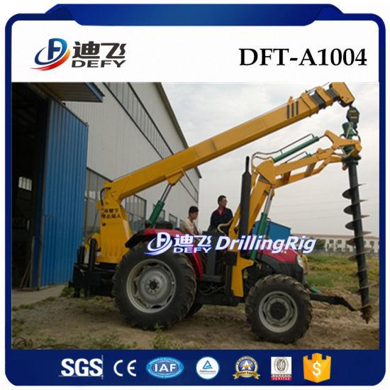 Dft-A1004 Auger Crane Pile Driver/ Power Pole Erection Equipment