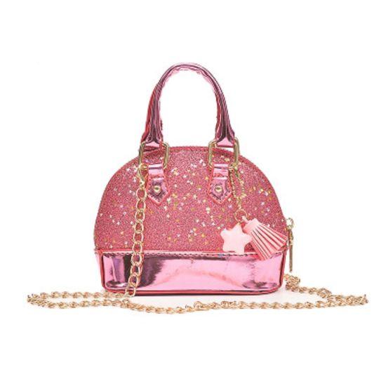 Toddler Girls Mini Sequins Handbags Random Color Pendant Little Girls Glitter Crossbody Bag Princess Purses Esg13565