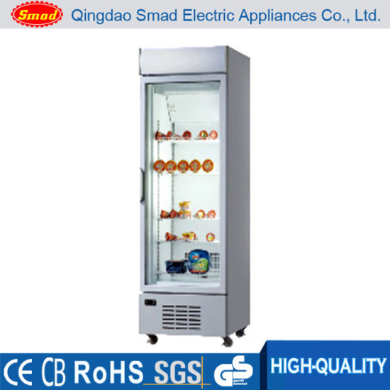 China 358l Glass Door Upright Freezer For Sale China Upright