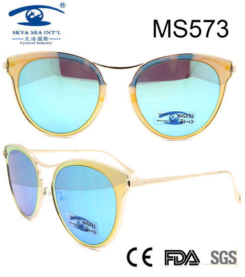 Hot Sale Best Quality Women Metal Sunglasses (MS573)