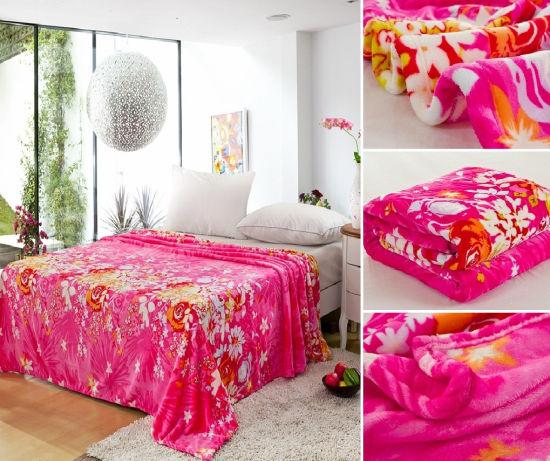 100 Polyester Rotary Printing Flannel Fleece Blanket