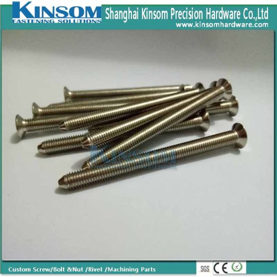 Countersunk Phillips Head Point Shape Full Thread Machine Screw pictures & photos