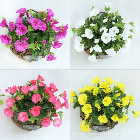 China Wholesale Morning Glory Artificial Silk Flower for Home Decoration