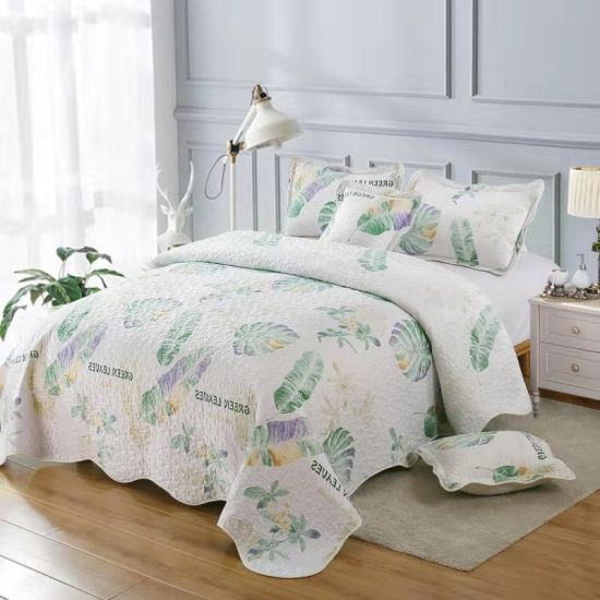 Wholesale Price Comfortable Polyester Printed Quilt Luxury Bedding Cover Set