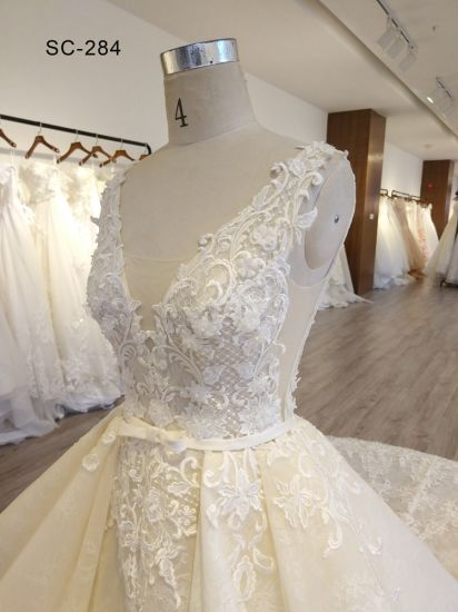 China Special design Lace Material 100% Polyester Wedding Dress ...