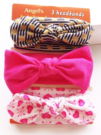 2017 Fashion Baby Hair Accessories Cotton Hairband Ribbon Bowknot Head Band pictures & photos