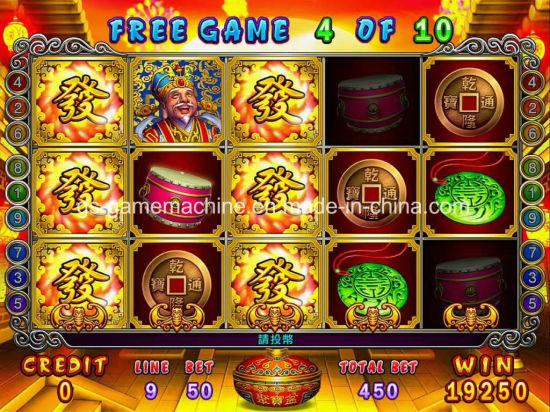 China Fortune Slots 9 Line Three Reel Arcade Pyramid Slot Machines