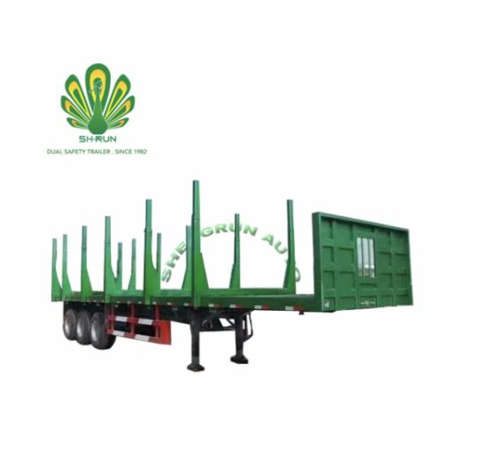 China Log Crude Wood Transport Truck Trailer pictures & photos