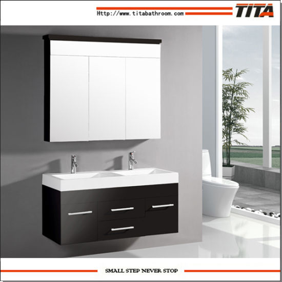 European Hotel Toilet Large Size Classic White and Black Color Cabinet for Bathroom Cabinet
