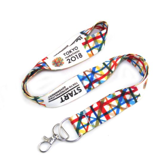 China Wholesale Polyester Neck ID Badge Holder Custom Lanyards pictures & photos