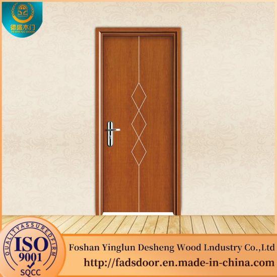New Design Plain Semi Solid Wooden Door For Bedroom