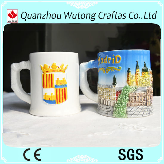 Customized Creative Souvenirs Items Spain Style Ceramic Mug Table Decoration Cup
